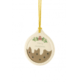 ORNAMENTS BELLEEK PLUM PUDDING ORNAMENT