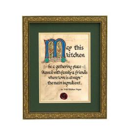 "PLAQUES & GIFTS CELTIC MANUSCRIPT 8x10 PLAQUE - ""AN IRISH KITCHEN PRAYER"""