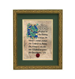 "PLAQUES, SIGNS & POSTERS ""SERENITY PRAYER"" MANUSCRIPT 8X10 PLAQUE"