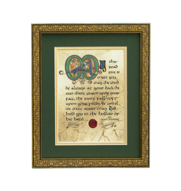 "PLAQUES, SIGNS & POSTERS ""IRISH BLESSING"" MANUSCRIPT 8X10 PLAQUE"
