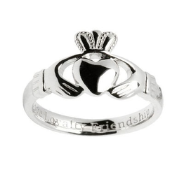 RINGS SHANORE STERLING LADIES CLADDAGH RING
