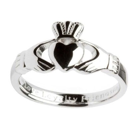 RINGS SHANORE STERLING GENTS CLADDAGH RING