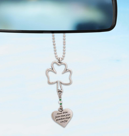 KEYCHAINS/CAR/ETC SHAMROCK MIRROR ORNAMENT