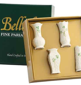 VASES & BOWLS BELLEEK MINI VASES SET OF 4