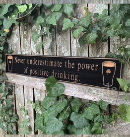 """PLAQUES, SIGNS & POSTERS """"POSITIVE DRINKING…"""" CARVED WOOD PUB SIGN"""
