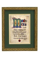 "PLAQUES, SIGNS & POSTERS ""MOTHER'S BLESSING"" MANUSCRIPT 8X10 PLAQUE"