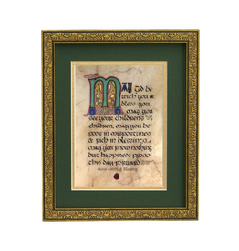 "PLAQUES, SIGNS & POSTERS ""CELTIC WEDDING BLESSING"" MANUSCRIPT 8X10 PLAQUE"