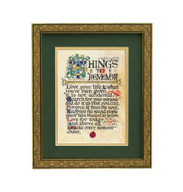 "PLAQUES, SIGNS & POSTERS ""THINGS TO REMEMBER"" MANUSCRIPT 8X10 PLAQUE"