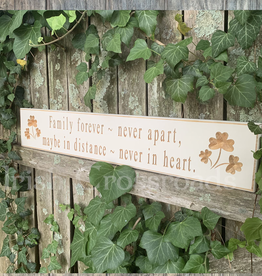 "PLAQUES, SIGNS & POSTERS ""FAMILY FOREVER…"" CARVED WOOD SIGN"