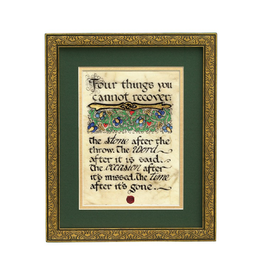 "PLAQUES, SIGNS & POSTERS ""FOUR THINGS..."" MANUSCRIPT 8X10 PLAQUE"