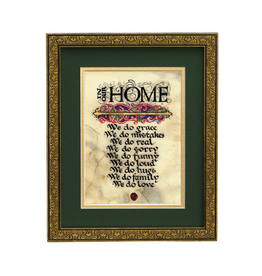 "PLAQUES, SIGNS & POSTERS ""IN OUR HOME..."" MANUSCRIPT 8X10 PLAQUE"
