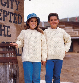 KIDS CLOTHES CHILDREN'S ARAN IRISH KNIT SWEATER - Natural