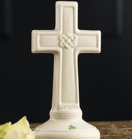 RELIGIOUS BELLEEK LOVE KNOT CROSS