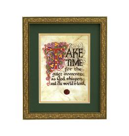 """PLAQUES, SIGNS & POSTERS CELTIC MANUSCRIPT 8x10 PLAQUE - """"TAKE TIME"""""""