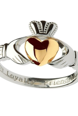 RINGS SHANORE STERLING LADIES CLADDAGH RING with 10K HEART