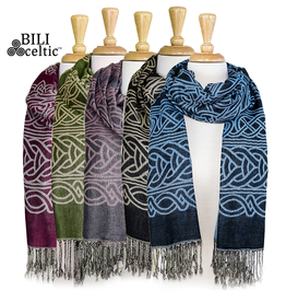 ACCESSORIES PASHMINA CELTIC KNOT SCARF - FRANCES