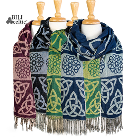ACCESSORIES PASHMINA CELTIC KNOT SCARF - ANNE