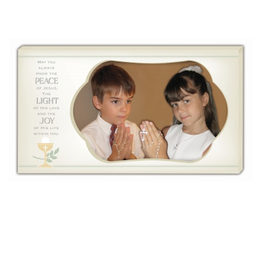 RELIGIOUS PEACE, LIGHT, JOY COMMUNION FRAME