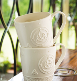 KITCHEN & ACCESSORIES BELLEEK SET OF 2 CELTIC TRINITY MUGS