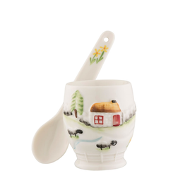 KITCHEN & ACCESSORIES BELLEEK CLASSIC CONNEMARA EGG CUP & SPOON