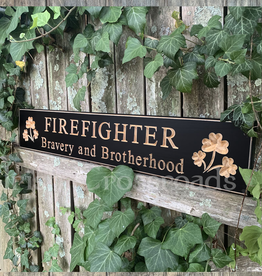 "PLAQUES, SIGNS & POSTERS ""FIREFIGHTER"" CARVED WOOD SIGN"