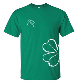 SHIRTS WRAP-AROUND SHAMROCK TSHIRT