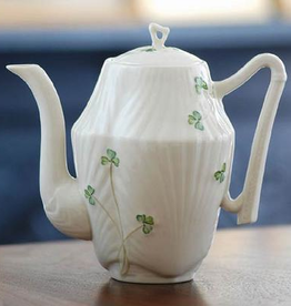 TEAPOTS, MUGS & ACCESSORIES BELLEEK HARP SHAMROCK COFFEE POT
