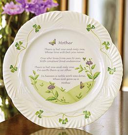 GIFTWARE BELLEEK HARP PLATE - Mother's Blessing