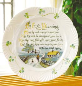 PLATES, TRAYS & DISHES BELLEEK HARP PLATE - Irish Blessing