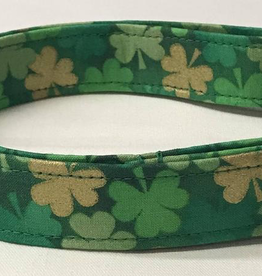 MISC PETS DOG COLLAR - Gold Shamrocks