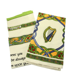 KITCHEN & ACCESSORIES CELTIC WEAVE SET OF 2 TEA TOWELS