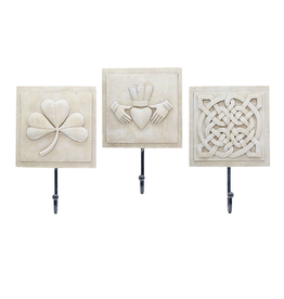 DECOR IRISH SYMBOLS WALL PLAQUES (3pc)