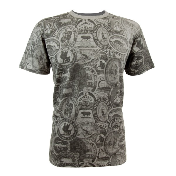 MISC NOVELTY GUINNESS PREMIUM GREY VINTAGE LABLE TEE