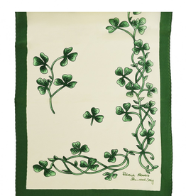 ACCESSORIES PATRICK FRANCIS SHAMROCK SPRIG SILK SCARF - Cream/Green