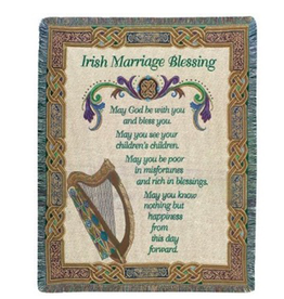 TAPESTRIES, THROWS, ETC. MARRIAGE BLESSING CELTIC THROW