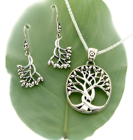 EARRINGS KEITH JACK STERLING TREE OF LIFE EARRINGS