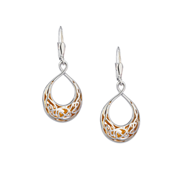 EARRINGS KEITH JACK STERLING & 22K WINDOW TO THE SOUL SML TEARDROP EARRINGS
