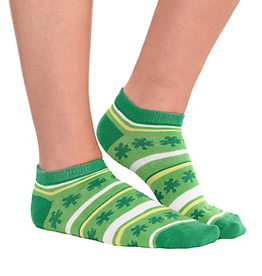 ACCESSORIES NOVELTY SHAMROCK NO-SHOW SOCKS