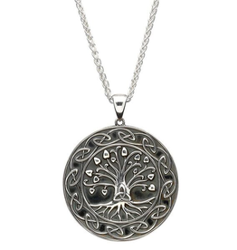 """PENDANTS & NECKLACES SHANORE STERLING GENERATIONS """"TRINITY TREE OF LIFE"""" PENDANT"""