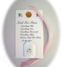 BRIDE/GROOM ACCESSORIES IRISH FIVE PENCE WEDDING COIN