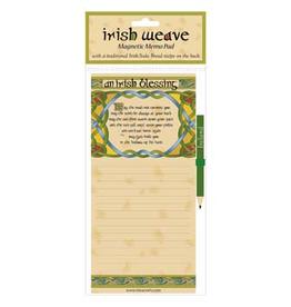 MISC NOVELTY CELTIC WEAVE IRISH BLESSING FRIDGE MEMO PAD