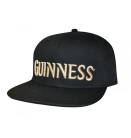 CAPS & HATS GUINNESS BLACK & CREAM FLAT BRIM BASEBALL CAP