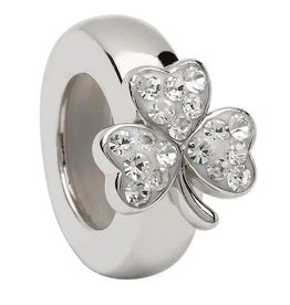 BEADS CLEARANCE - ORIGINS STACK SHAMROCK BEAD with SWAROVSKI CRYSTAL - FINAL SALE