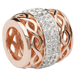 BEADS CLEARANCE - ORIGINS ROSE GOLD CELTIC BEAD with SWAROVSKI CRYSTAL - FINAL SALE