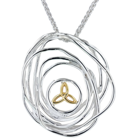 PENDANTS & NECKLACES KEITH JACK STERLING & 10K CRADLE OF LIFE PENDANT