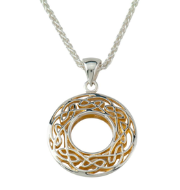 PENDANTS & NECKLACES KEITH JACK STERLING & 22K WINDOW TO THE SOUL SML ROUND PENDANT