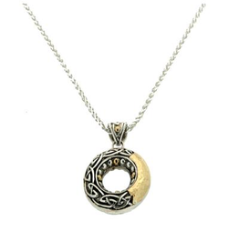 PENDANTS & NECKLACES KEITH JACK STERLING & 18K CELTIC CIRCLE PENDANT