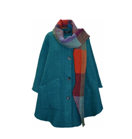 CAPES & RUANAS BRANIGAN WEAVERS TINA CAPE - Killybegs Jade