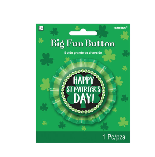 ST PATRICK'S DAY NOVELTY ST. PAT'S BIG FUN BUTTON