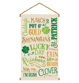 ST PATRICK'S DAY NOVELTY ST PAT'S HANGING BANNER SIGN